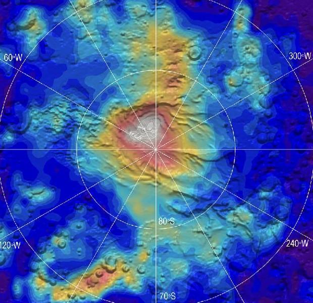 Gelo seco Marte (Foto: Nasa/JPL-Caltech)