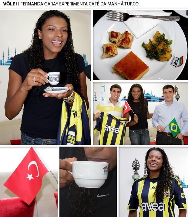 fernanda garay volei café turco (Foto: Reginaldo Castro)