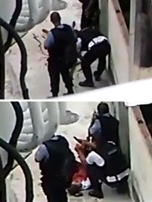 FOTÃO - Vídeo mostra PMs mexendo em cena de homicídio na Providência, no Rio de Janeiro (Foto: Reprodução/Whatsapp)