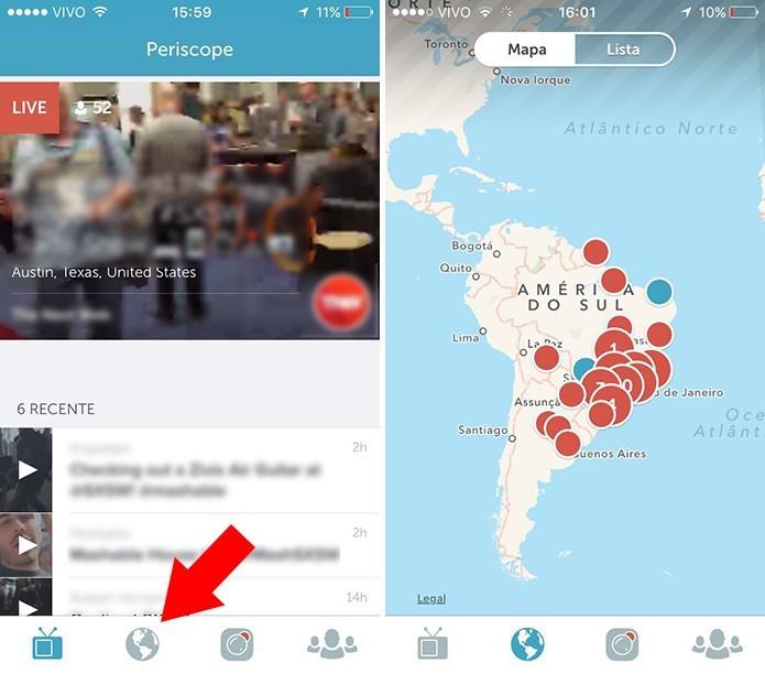 Acesse a busca por região para encontrar vídeos ao vivo em qualquer cidade (Foto: Reprodução/Paulo Alves)