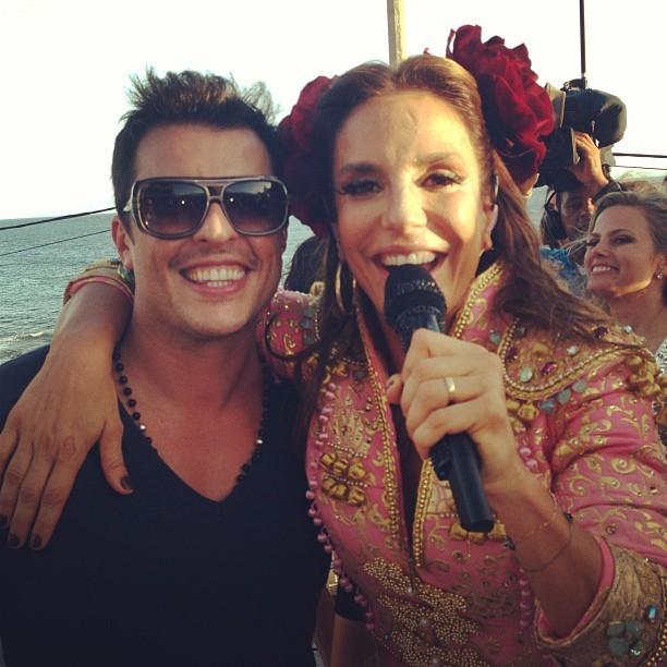 Ceará e Ivete Sangalo (Foto: Instagram/ Reprodução)