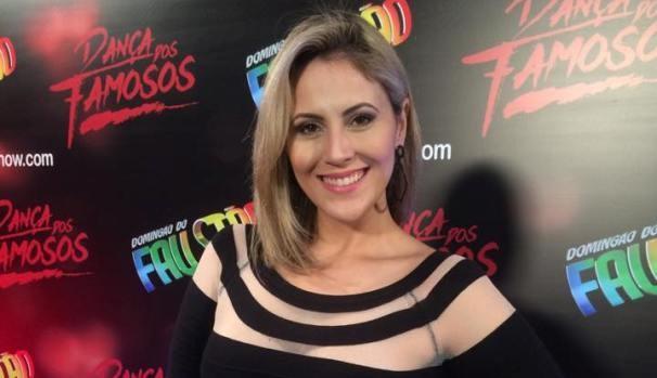 Jessica Leão marcou presença na coletiva da Dança dos Famosos 2015 (Foto: Reprodução / TV Diário)