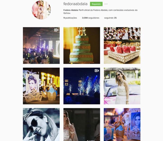 Fedora agora tem um perfil oficial no Instagram: @fedoraabdala (Foto: Reprodução)