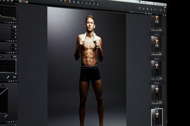 Neymar Jr. posa de cueca (Foto: Divulgação / Divulgação)