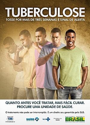 Cartaz da campanha de tuberculose (Foto: Ministério da Saúde/Divulgação)