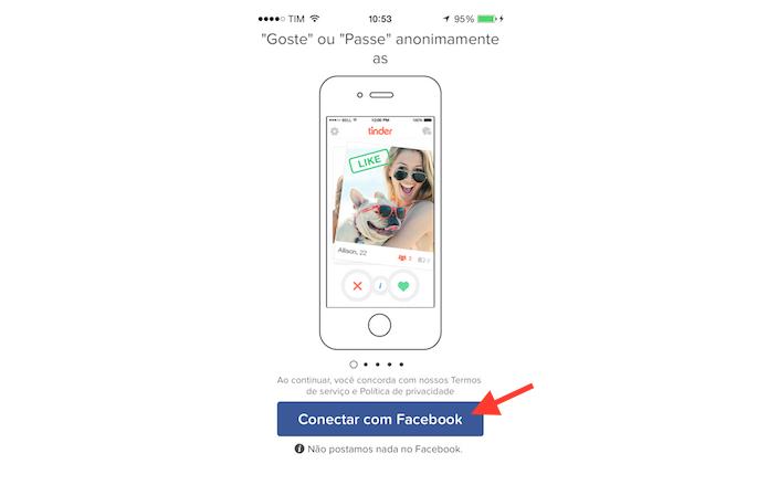 Realizando um novo login em uma conta do Tinder no iPhone (Foto: Reprodução/Marvin Costa)