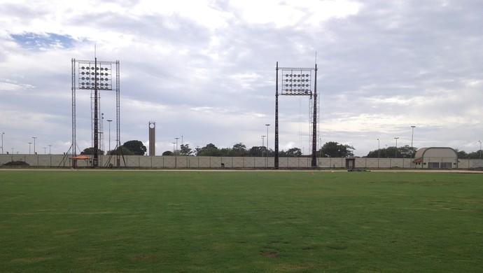 Pista de atletismo será construído em torno do gramado do 'Zerão' (Foto: Cassio Albuquerque/GE-AP)