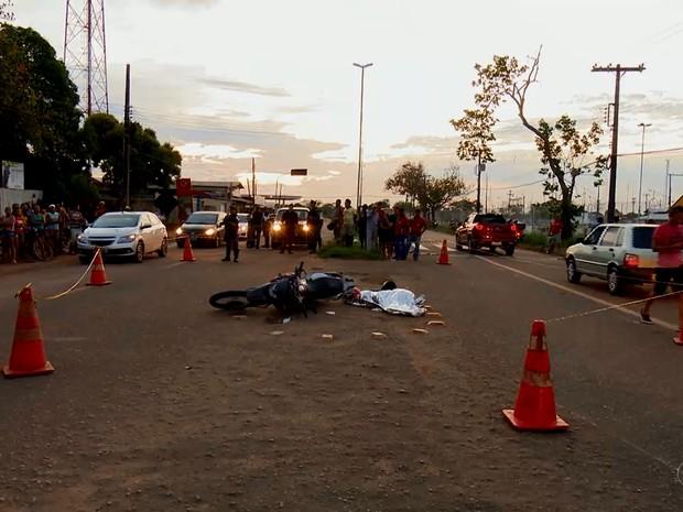 Acidente, vítima fatal, motocicleta, acidentes fatais, amapá, macapá, (Foto: Reprodução/Rede Amazônica no Amapá)