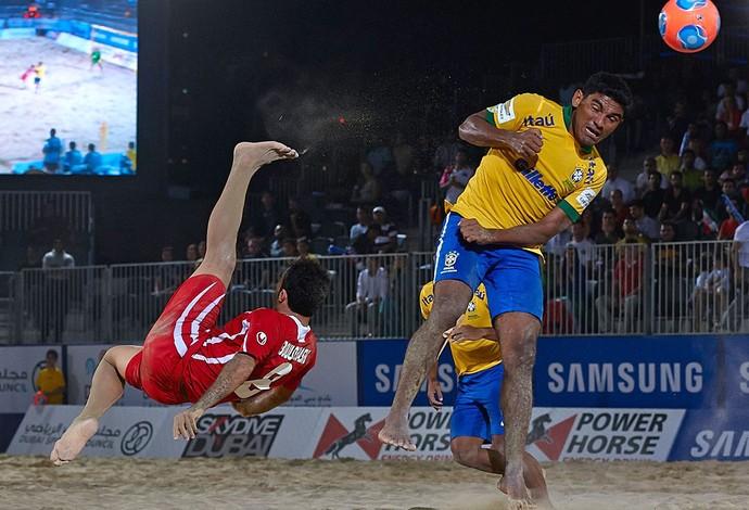 Brasil e Irã futebol de areia (Foto: Divulgação / Facebook Oficial)