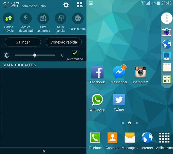 Caixa de ferramentas do Galaxy S5 (Foto: Reprodução)
