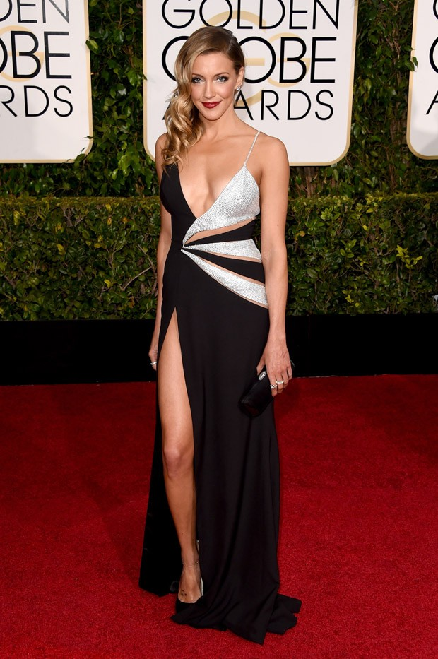 Katie Cassidy no Globo de Ouro 2015 (Foto: Getty Images)