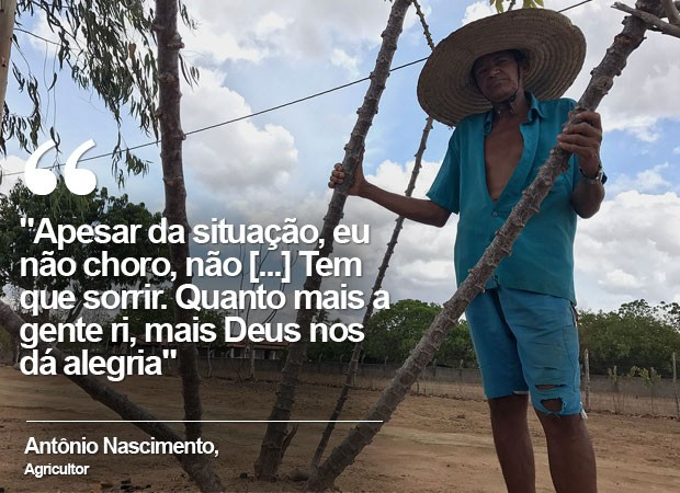 Agricultor Antônio Nascimento, de 60 anos (Foto: Alan Tiago Alves/G1)