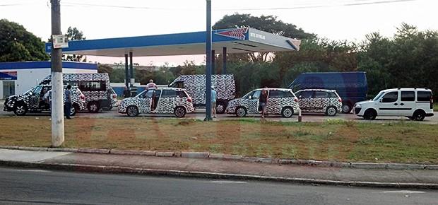 Modelos da Fiat flagrados em testes no interior de SP (Foto: Paulo Roberto Cunha)