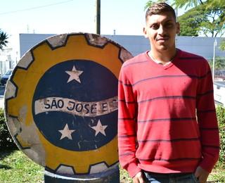 Atacante Soares São José EC (Foto: Filipe Rodrigues)