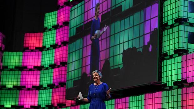 Margrethe Vestager, comissária da União Europeia para Concorrência, durante o Web Summit (Foto: Divulgação)