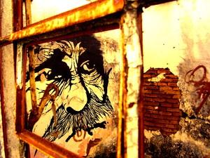 Trabalho teve influência em murais mexicanos São Carlos (Foto: Alfredo Maffei/Arquivo Pessoal)