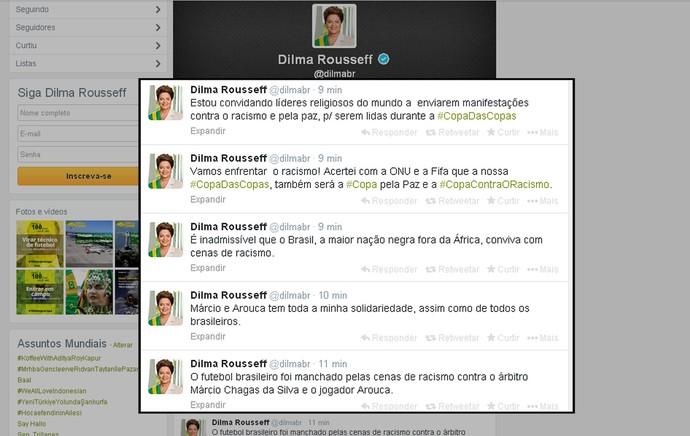 presidente dilma racismo twitter (Foto: Reprodução )