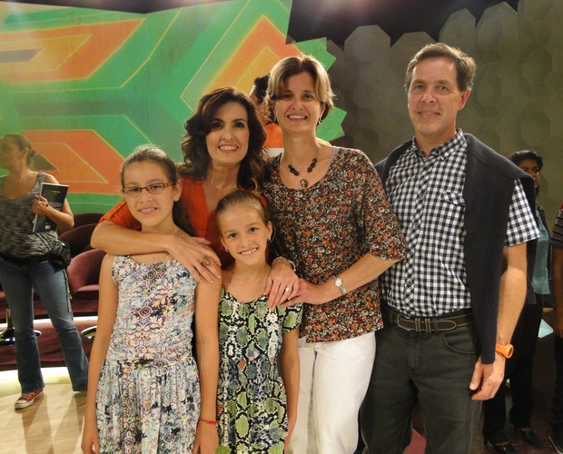 Família Fátima Bernardes (Foto: Encontro com Fátima Bernardes/TV Globo)
