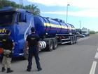 PRF realiza operação para fiscalizar transporte de produtos perigosos