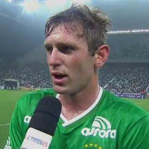 Fabiano, lateral da Chapecoense (Foto: Reprodução SporTV)