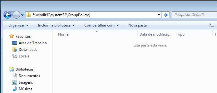 Acessando a pasta de política de grupo do Chrome (Foto: Reprodução/Edivaldo Brito)