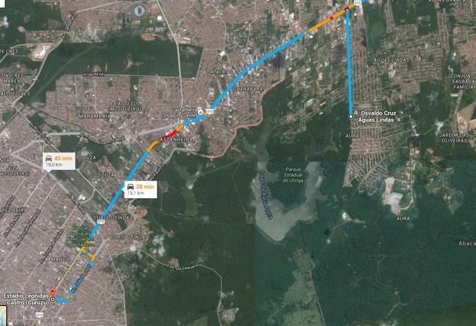 CT paysandu, águas lindas (Foto: Reprodução/Google)