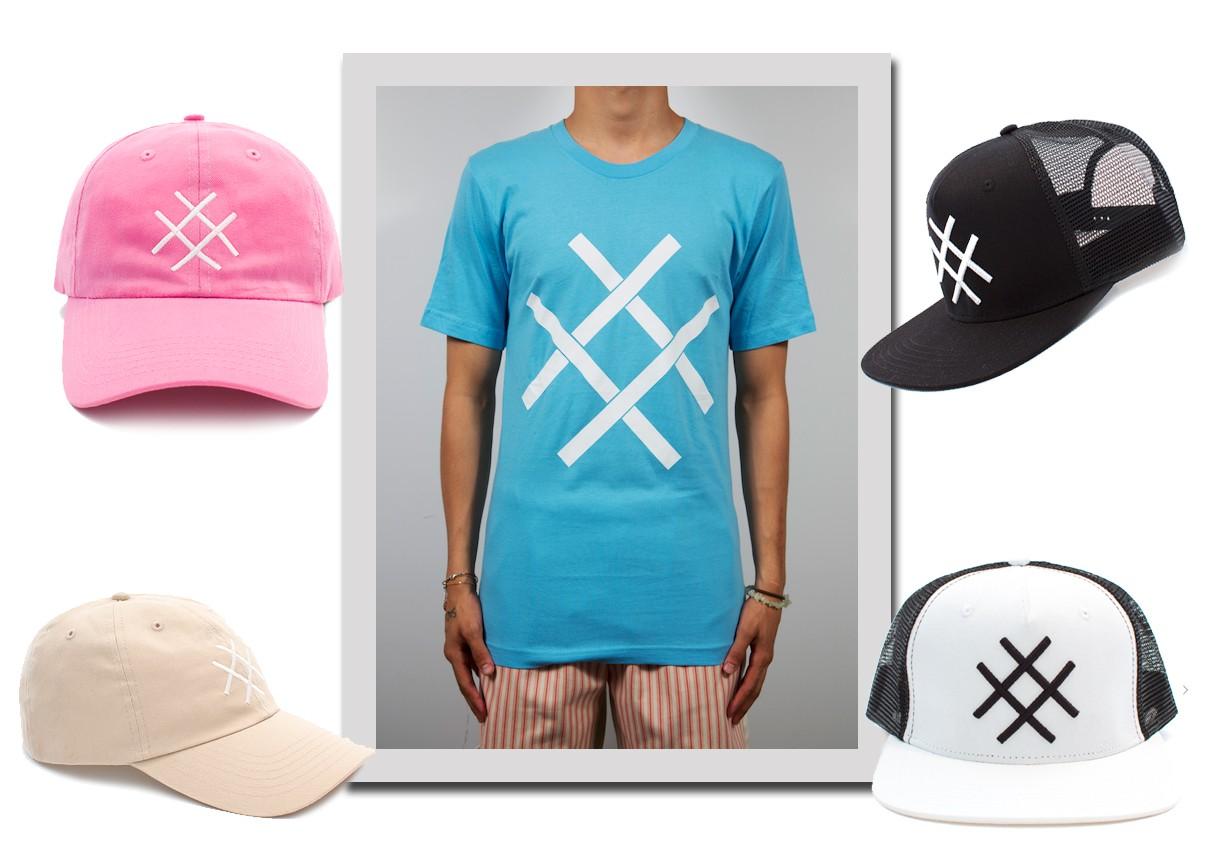 Camiseta e Bonés (Foto: Reprodução)