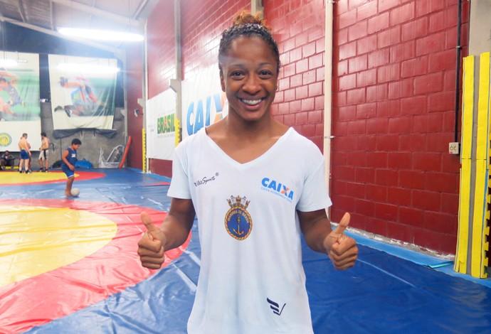 Susana Santos - seleção brasileira de luta olímpica (Foto: Flávio Dilascio)