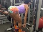 Gracyanne Barbosa pega pesado em dia de treino