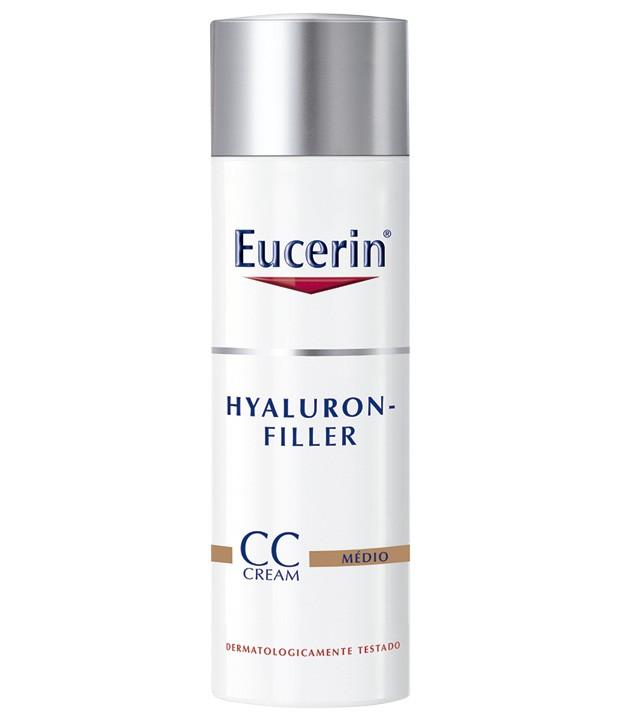 Hyaluron-Filler CC Cream, Eucerin (R$ 210,50) – Tem protetor solar, hidratante e ativos que corrigem as rugas e imperfeições da pele.  (Foto: Divulgação)