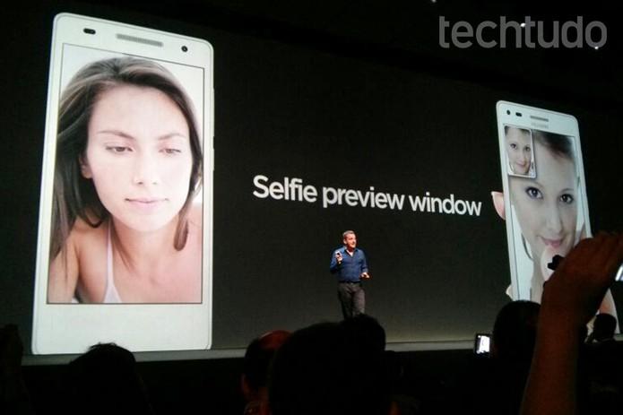"Huawei Ascend G6 entra na onda dos ""selfiephones"" (Foto: Isadora Díaz/TechTudo)"