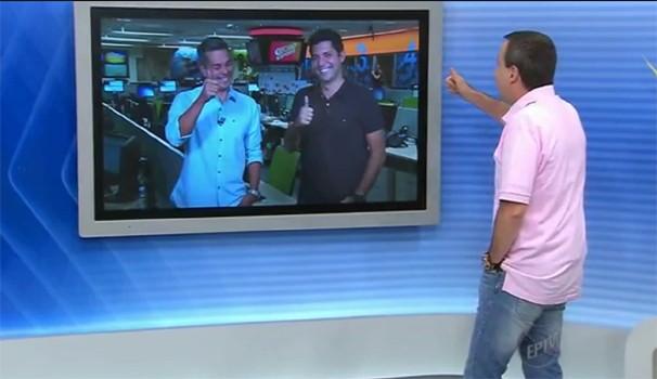Osvaldo Luís conversou ao vivo com Ivan Moré e Caio Maciel direto da redação do GESP (Foto: Reprodução / EPTV)