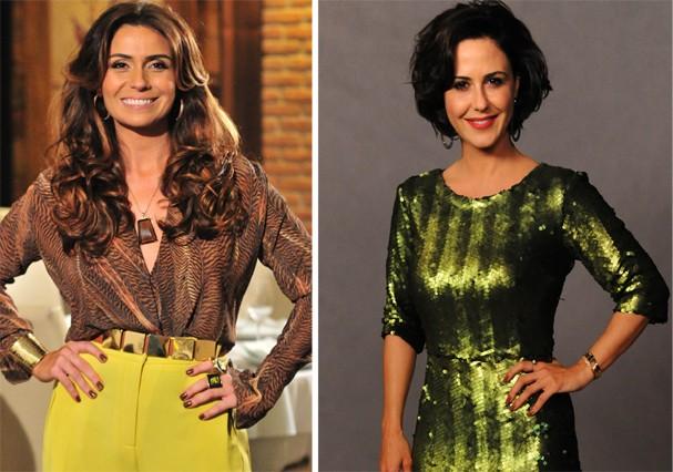 Giovanna Antonelli, que se casou com Murilo em 2002 e Guilhermina Guinle, que namorou o ator (Foto: TV Globo)