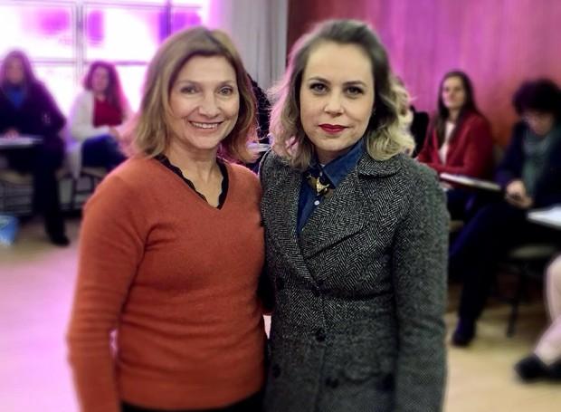 Adriana Milczevsky conversou com a escritora Cleo Busatto (Foto: Divulgação/RPC)