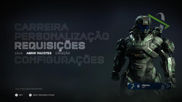 Conheça o sistema de cartas de Halo 5: Guardians para desbloquear novos veículos e armas (Foto: Reprodução/Victor Teixeira)