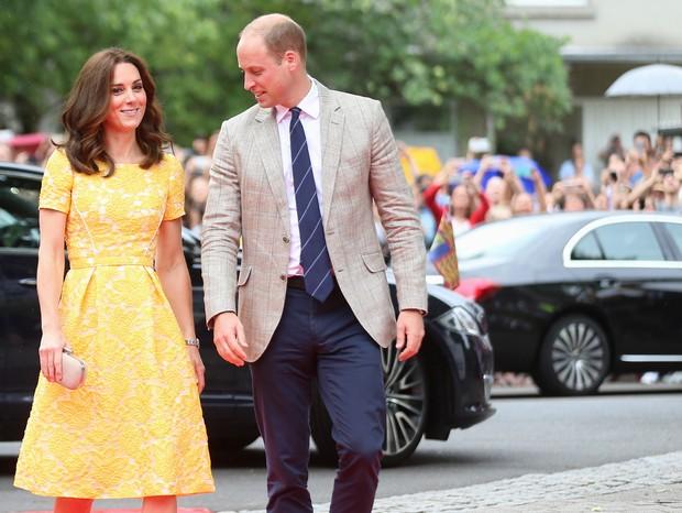 Kate Middleton e Príncipe William em Heidelberg (Foto: Getty Images)