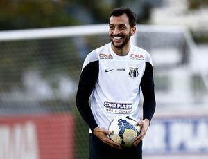 Edu Dracena, zagueiro do Santos (Foto: Ricardo Saibun / Divulgação Santos FC)