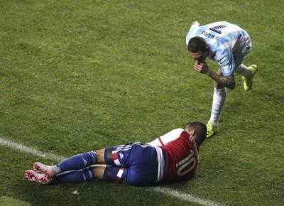 Derliz Gonzalez Argentina Paraguai (Foto: REUTERS/Jorge Adorno)