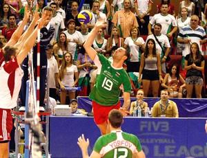 Bulgária jogo vôlei contra Polônia (Foto: Divulgação / FIVB)