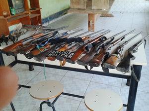 Apreensão ocorreu na região de Colniza (Foto: Assessoria/PM-MT)