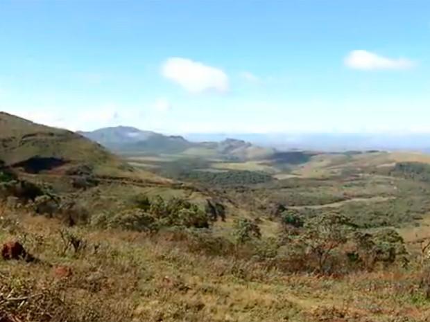 Serra do Gandarela, em Minas, será transformada em parque nacional (Foto: Reprodução/TV Globo)