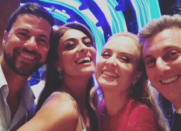 Carlos Eduardo Baptista, Juliana Paes, Angélica e Luciano Huck (Foto: Reprodução/Instagram)