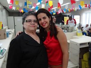 Magali conta que bom humor de Maria José contagia. (Foto: Katherine Coutinho/G1)