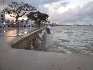 Praia de Manaíra, em João Pessoa (Foto: Walter Paparazzo/G1)