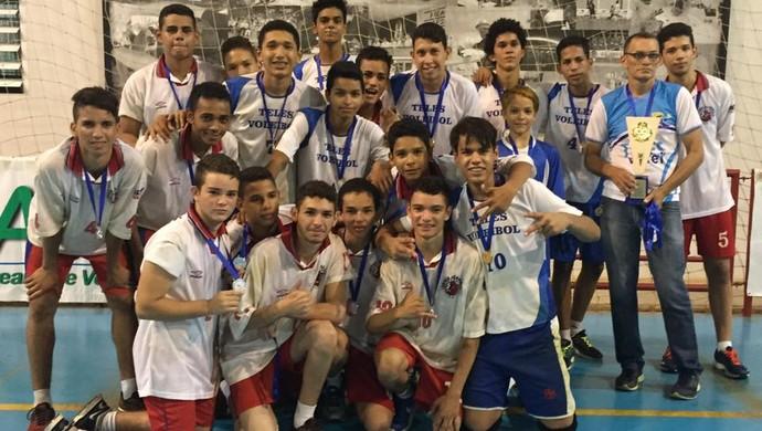 Teles Voleibol é campeão de vôlei infanto-juvenil masculino (Foto: Divulgação/Feav)