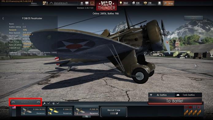 """Aperte no comando """"Research"""" na tela inicial do game (Foto: Reprodução/Daniel Ribeiro)"""