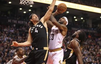 Em noite de homenagem a rapper, Raptors derrubam Cavaliers e LeBron