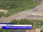 Após um ano e três meses, obra da via oeste segue inacabada em S. José
