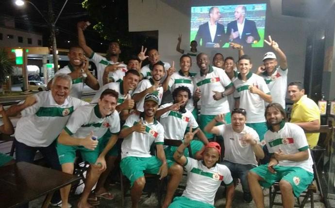 Jogadores do Real Noroeste comemoram classificação à final da Copa ES 2015 (Foto: Divulgação/Arquivo Pessoal)