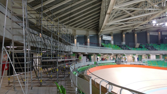 Velódromo em obras Olimpíada Rio 2016 (Foto: Vitor Geron)